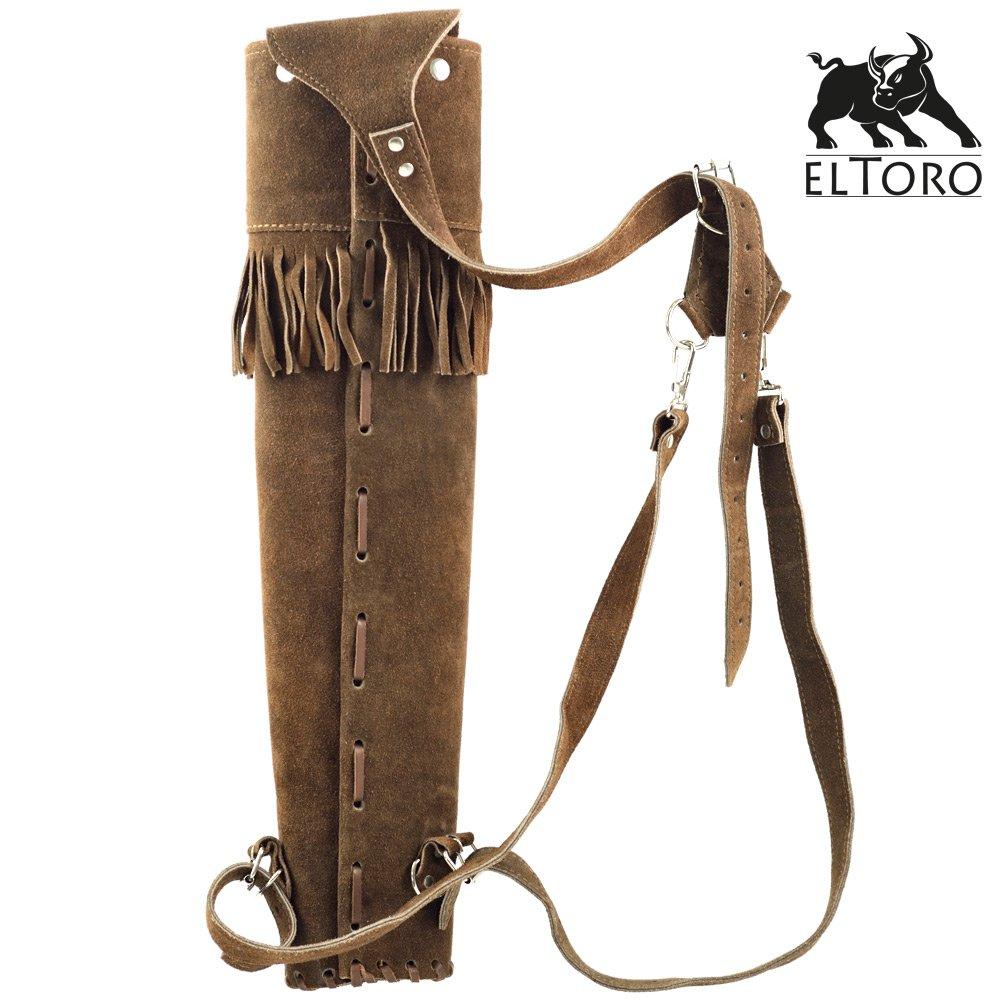 El Toro Rückenköcher Mit Großer Tasche Ii Traditioneller Köcher Lederköcher Köcher Bogenschießen