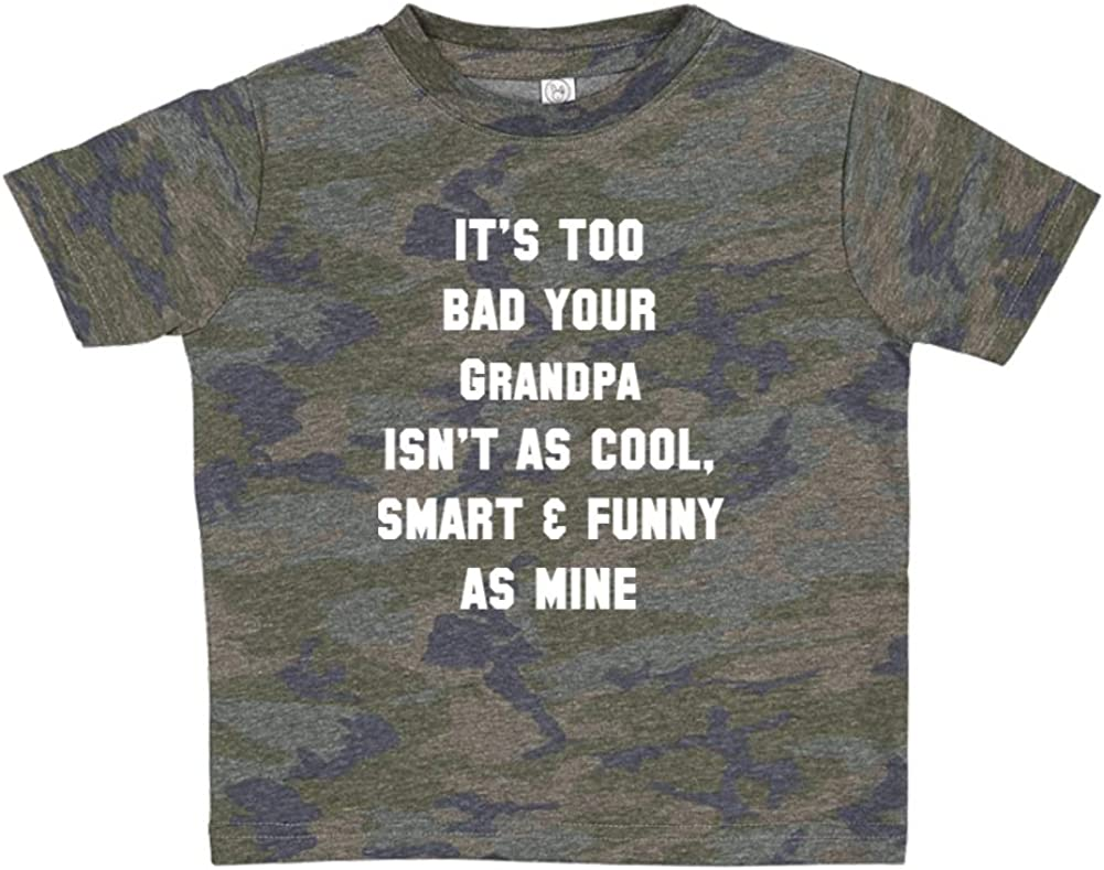 Smart /& Funny As Mine Your Grandpa Isnt As Cool Toddler//Kids Short Sleeve T-Shirt