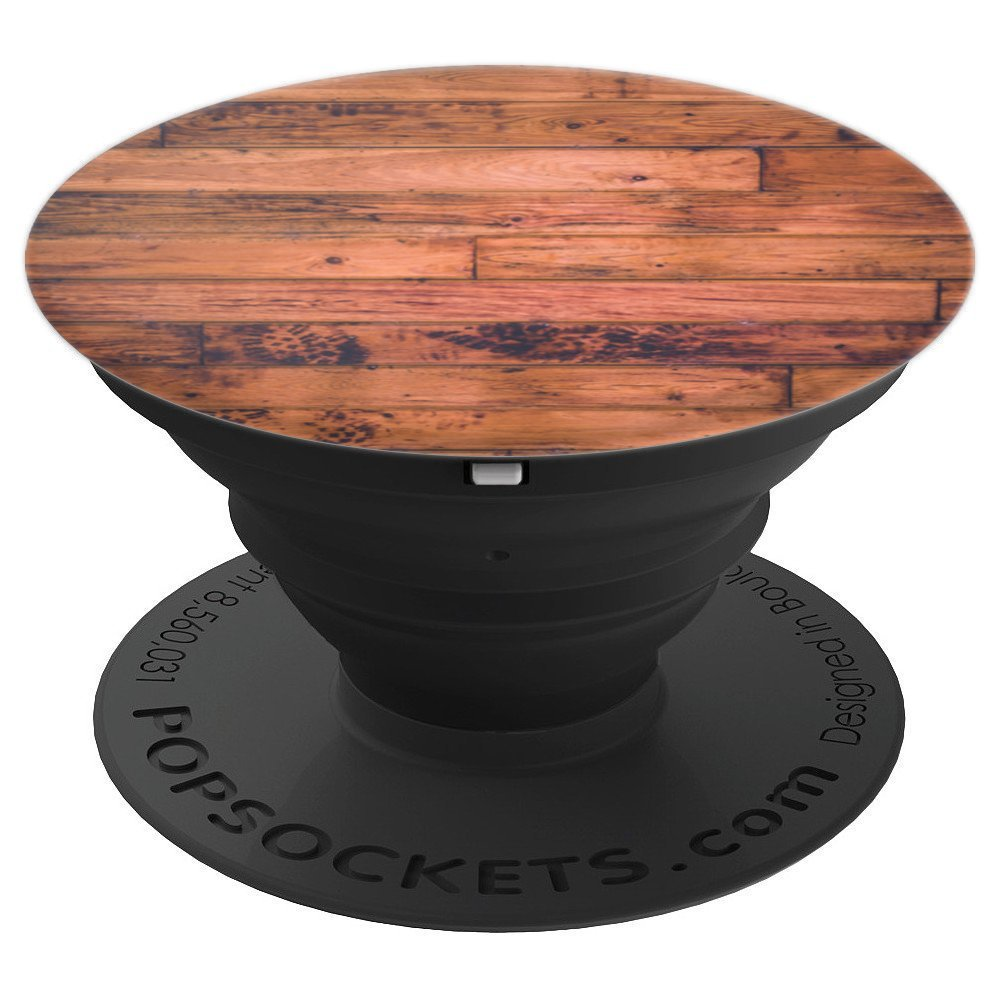 Wood Floor Flooring Grain Pattern Style - PopSockets Grip and Stand for Phones and Tablets