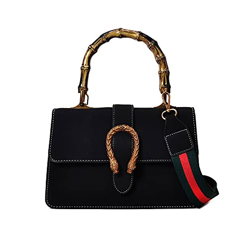 37e266d7fc Winter Messenger Bag Vintage Women Handbag Shoulder Bag Crossbody Bag Tote  Bags with Bamboo Handle by YILINRUI: Amazon.in: Shoes & Handbags