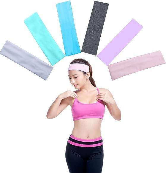 GOPOWD Cintas de Pelo Yoga Turbantes para Mujer Chicas Adolescentes con Algodón Elástico
