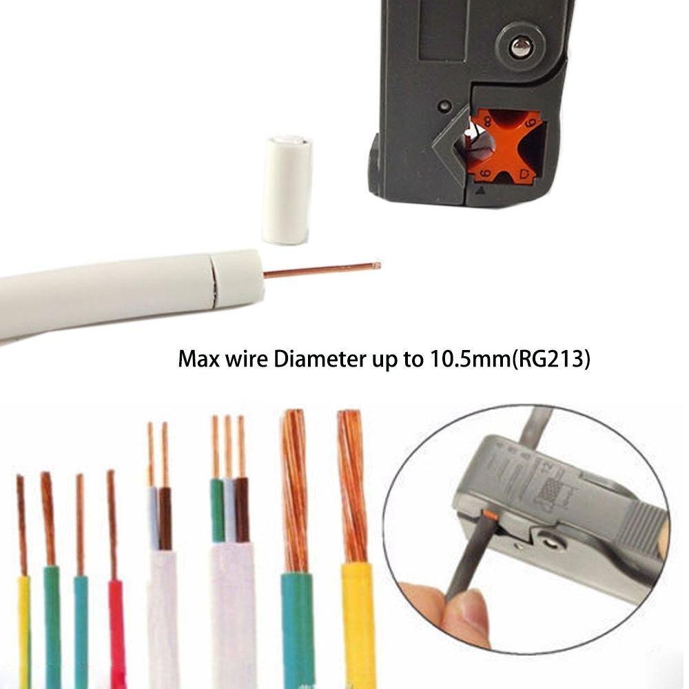 QuiCi - Abrazadera de corte de alambre automático para cable de crimpado ajustable para cable coaxial RG-58/59/62/3C/4C: Amazon.es: Bricolaje y herramientas