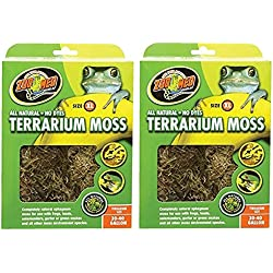 Terrarium Moss [Set of 2] Size: 30-40 Gallons