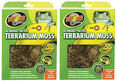 Terrarium Moss [Set of 2] Size: 30-40 Gallons by Zoo Med