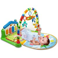 Trystar Baby's Playmat Gym with Toys, Made of Non Toxic Materials (Assorted Colour)