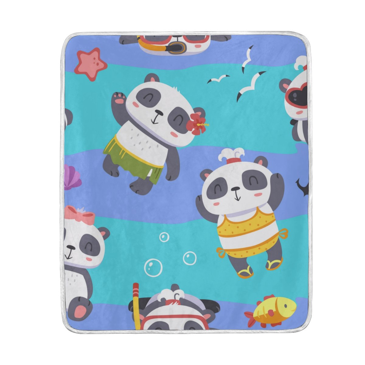 My Little Nest Warm Throw Blanket Panda Lightweight Microfiber Soft Blanket Everyday Use for Bed Couch Sofa 50'' x 60'' by My Little Nest