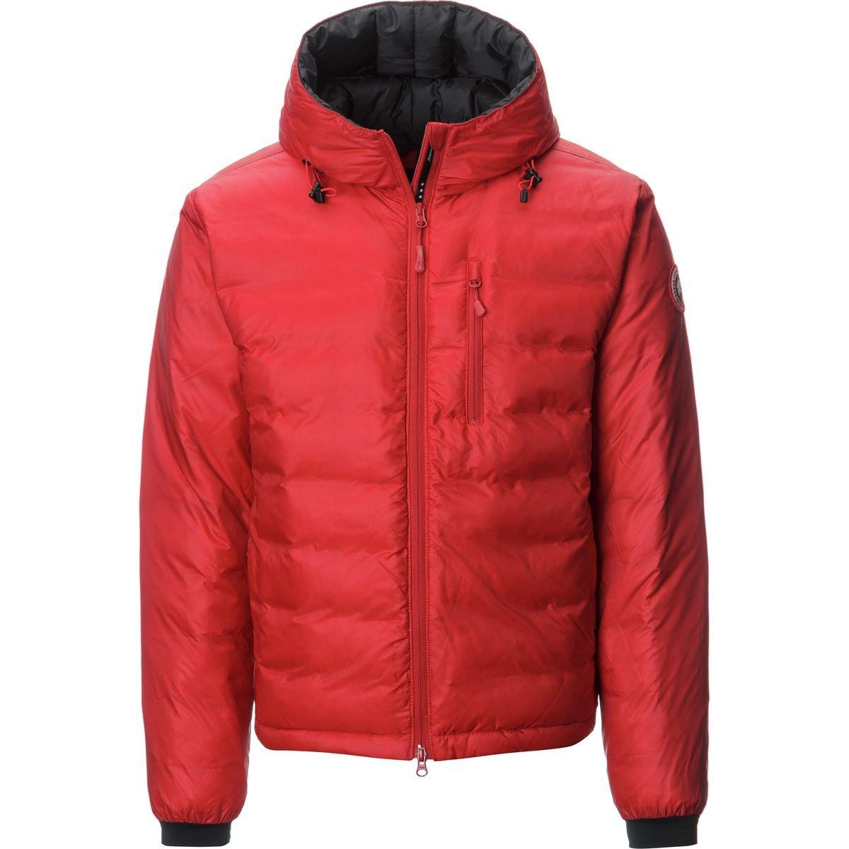 (カナダグース)Canada Goose Lodge Down Hooded Jacket メンズ ジャケットRed/Black [並行輸入品] B077N6PG2X  Red/Black 日本サイズ M (US S)