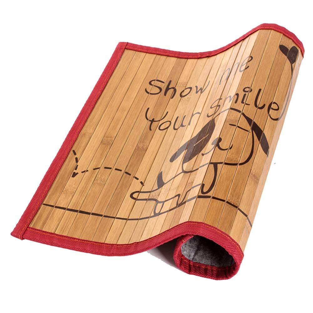 65X50CM Xiao Jian- Kennel Cat Litter Dog Mat Pet Ice Pad Mat Dog Cat Kennel Mat Blanket Puppy golden Hair Than Bear Teddy Single-sided Bamboo Mat Pet mat (Size   65X50CM)