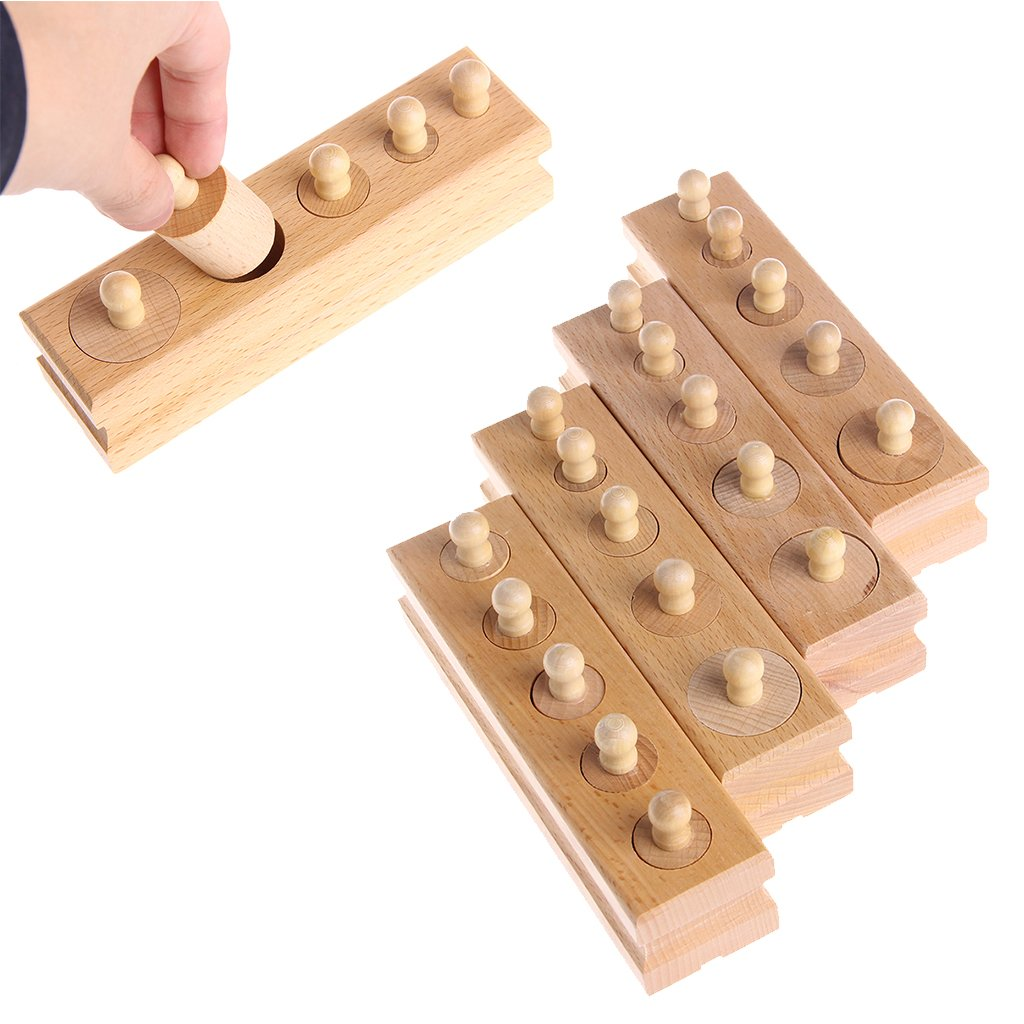 Forgun Montessori Sensorial Material Learning Color Tablet Box Wood Preschool Toy