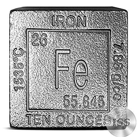 Amazon Fine 999 Pure Iron 10oz Cube Collectable Element