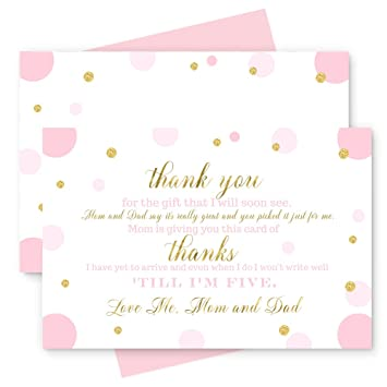Amazon Com 15 Pink And Gold Thank You Cards With Blush Envelopes