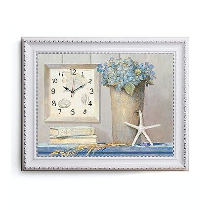 SFM MSF Relojes de Pared Fondo Decorativo Arte Creativo Pintura Reloj de Pared Arte Micro Marco