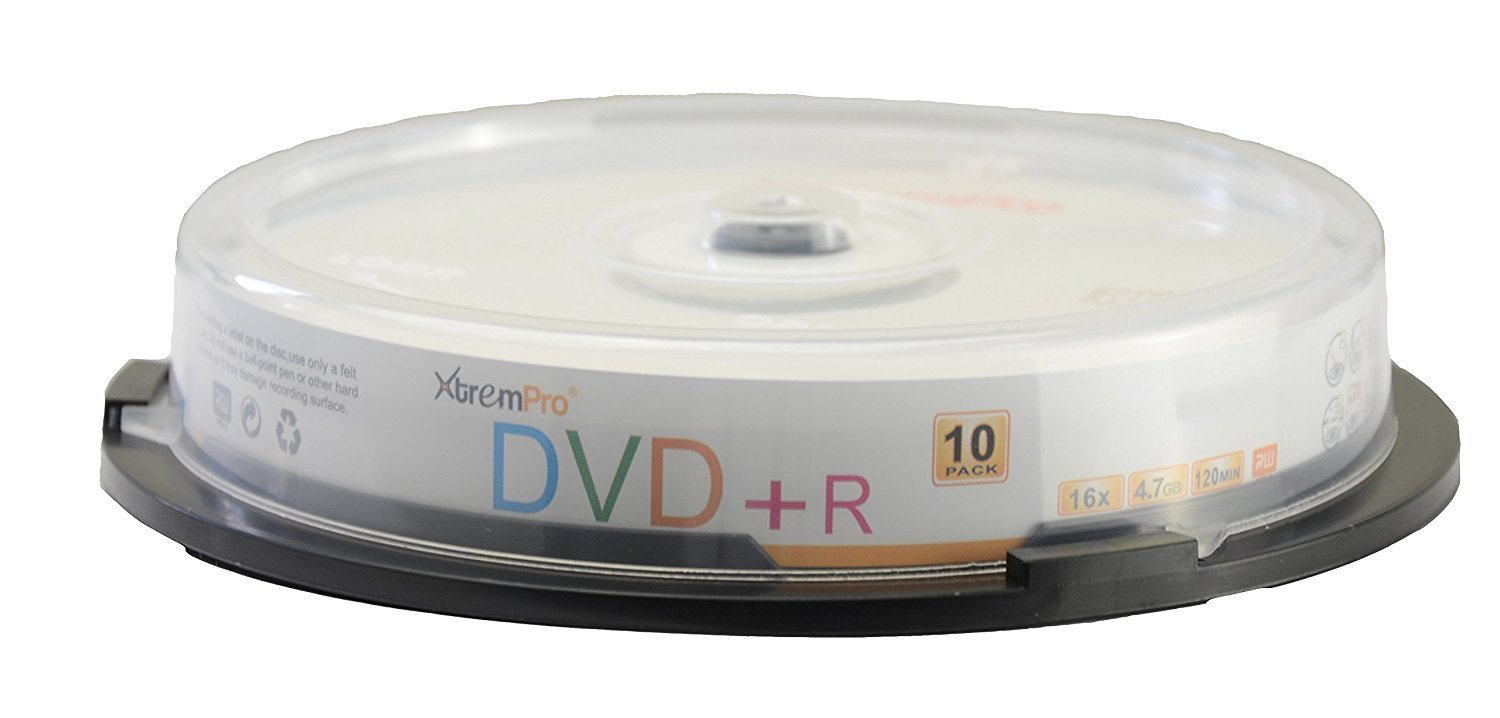 XtremPro DVD+R 16 X 4.7GB 120Min Recordable DVD 10 Pack Blank Discs in Spindle - 11023