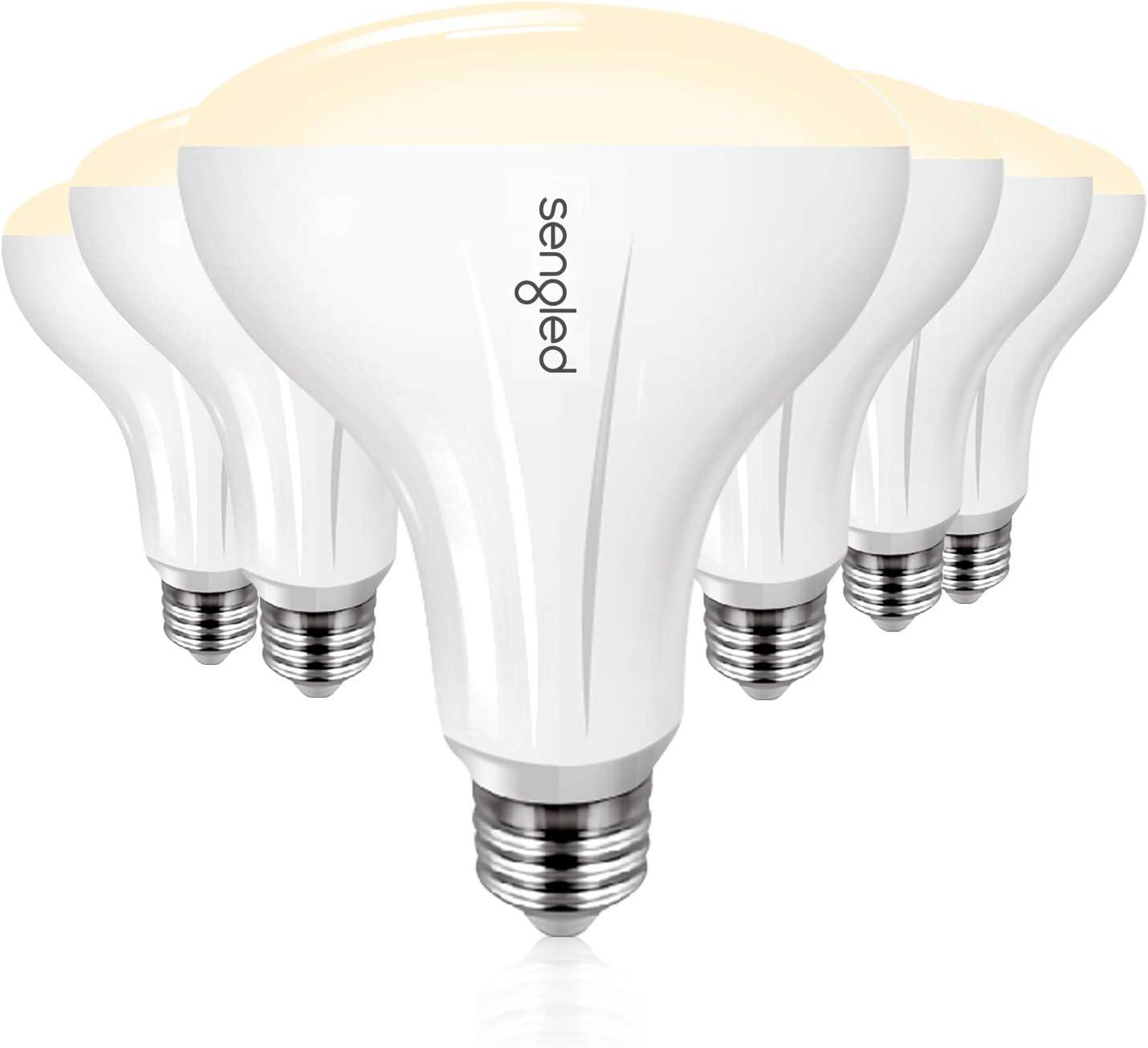 Sengled Smart Light Bulb 6 Pack, Smart Bulbs That Work with Alexa, Google Home & IFTTT (Smart Hub Required), Smart LED Light Bulb BR30 Soft White Dimmable Light, 65W Equivalent