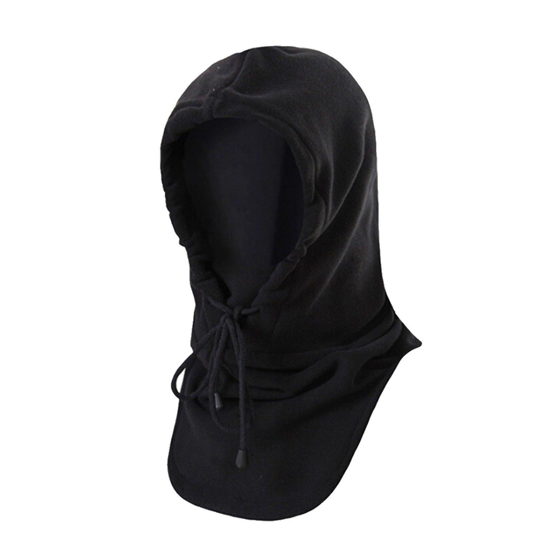 ESYN Black Winter Fleece Halswärmer Snood-Schal Ski Motorrad Radfahren Maske Herren Damen Unisex Hat