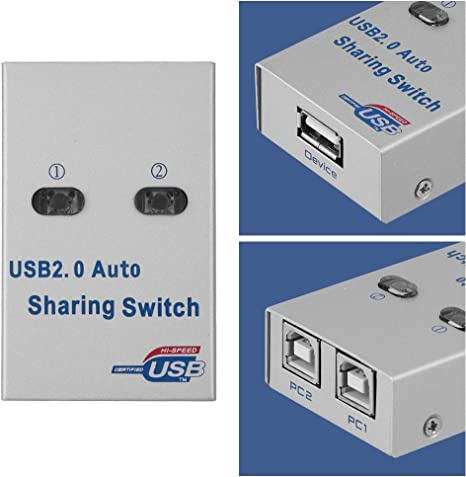 Tosuny Switch USB Sharing, PC Computer USB 2.0 Auto/Manual Switch ...