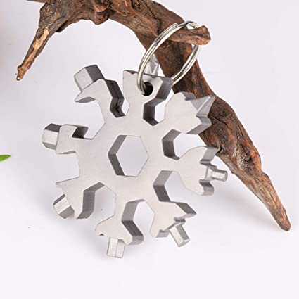 18 In 1 Multi Tool Stainless Steel Snowflake Shape EDC Flat Cross Screwdriver uk