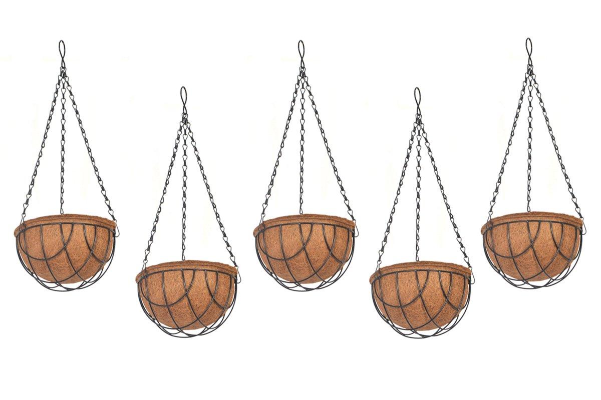 COIR GARDEN Coir Hanging Pots (8-inch) - 5 Pieces product image