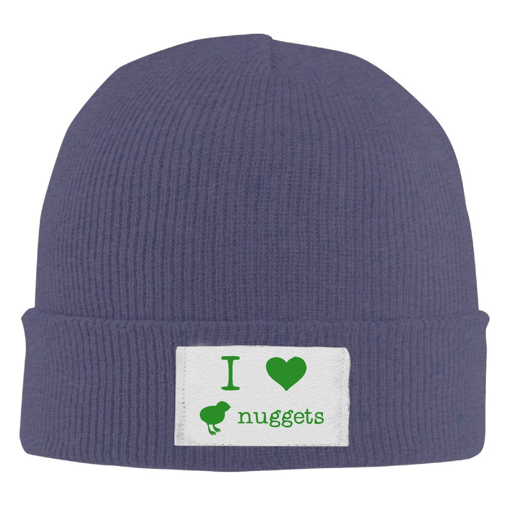 I Love Chicken Nuggets Mens Cuffed Skull Beanie Hat Graphic-Print Classic  Hipster Beanie at Amazon Men s Clothing store  4370f451105
