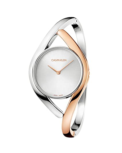 713fc90d3 Calvin Klein Womens Analogue Quartz Watch with Stainless Steel Strap  K8U2MB16  Amazon.co.uk  Watches