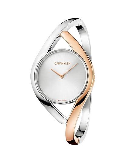 Calvin Klein Reloj Analógico para Mujer de Cuarzo con Correa en Acero Inoxidable K8U2MB16: Amazon.es: Relojes