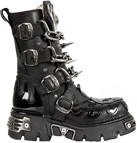 43 New Rock Boots Unisex Style 391 S1 Black