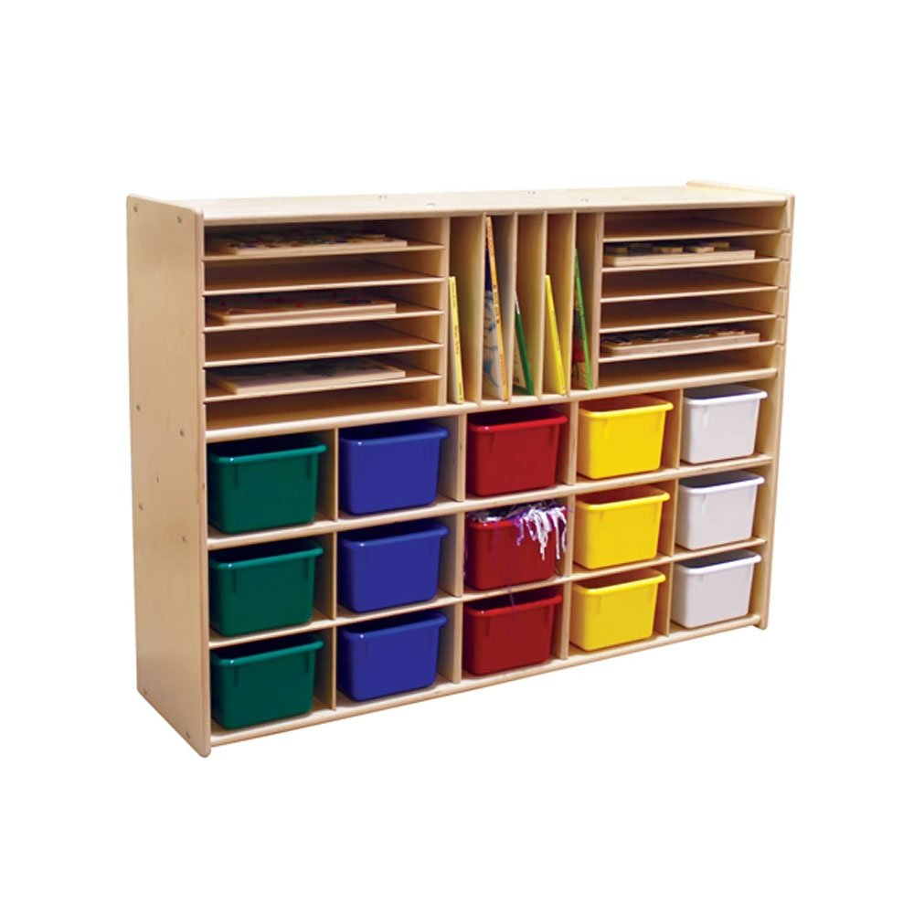 Contender Kids Home School Furniture C14003 Multi Storage with 15 Assorted Trays 33-7/8''H