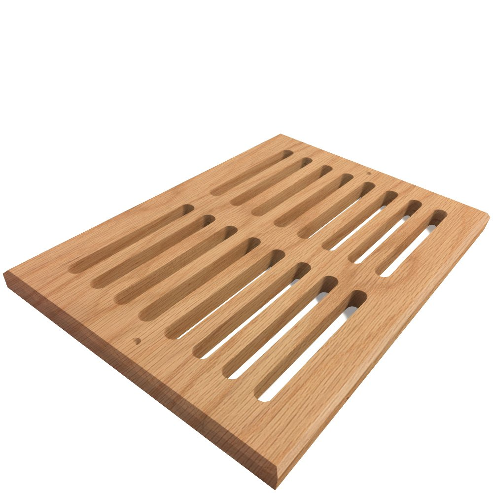Unfinished Oak Wood Vent Cover, 6 x 16 inches, 3/4'' Thick, Model MD1