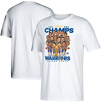 f3cad976 Golden State Warriors Youth 2017 NBA Finals Champions Cartoon Caricature  White T-shirt Small 8