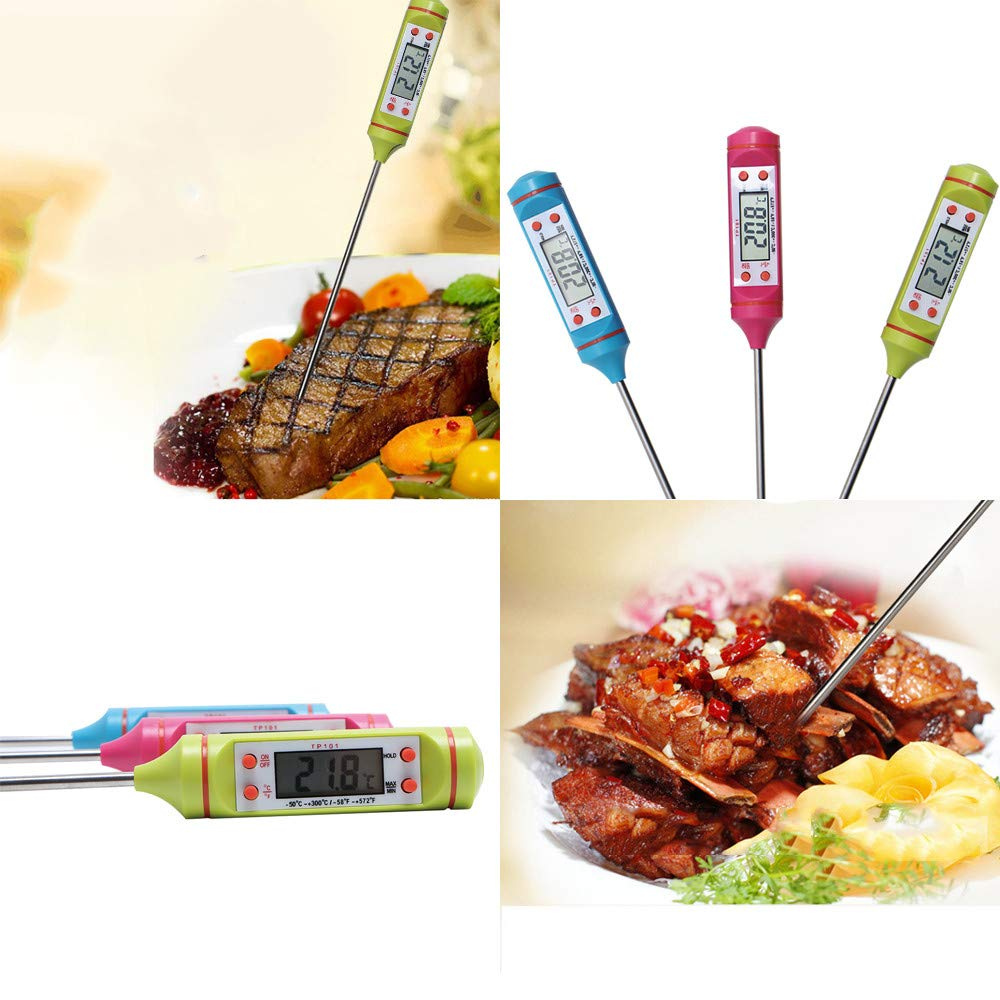 LiPing Precise Control Kitchen Tools Digital Food Cooking Thermometer Instant Read Meat Thermometer for Kitchen BBQ Grill Smoker (Pink) by LiPing (Image #2)