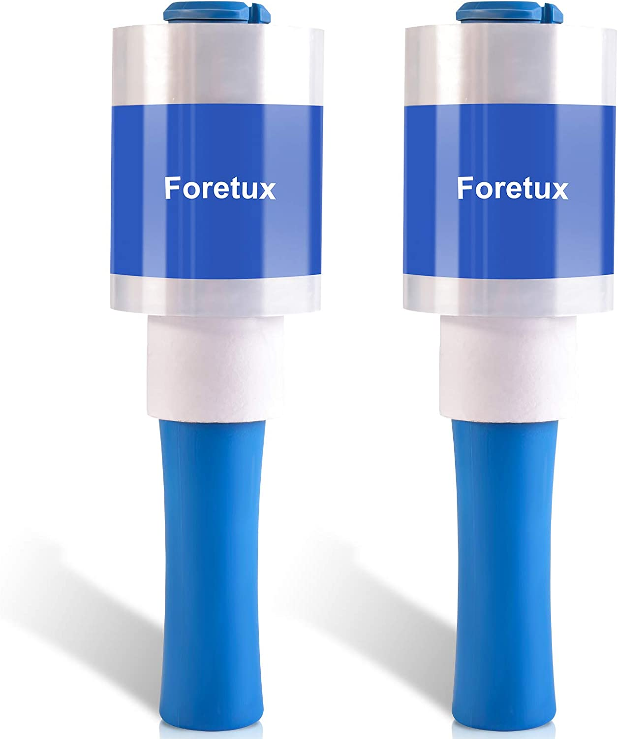 Foretux Mini 2 Pack Stretch Wrap Film with Handle | (3.94