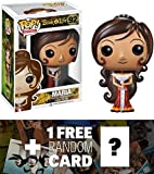 Maria: Funko POP! x The Book of Life Vinyl Figure + 1 FREE CG Animation Themed Trading Card Bundle [39356]