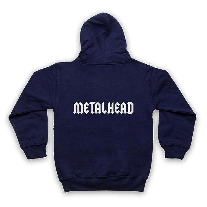 My Icon Art & Clothing Metalhead Heavy Metal Niños Sudadera con Capucha con Cremallera: Amazon.es: Ropa y accesorios