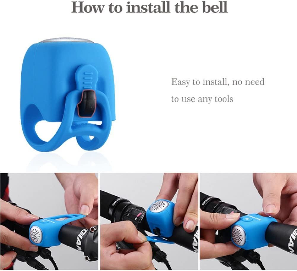 AmorModa Electric Cycling Bells 90 dB Horn Rainproof MTB Bicycle Handlebar Bell Silicone material Shell Ring Bell Bicycle Accessories