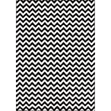 Well Woven Sydney Eli Chevron Black Modern Area Rug 7'10'' X 10'6""