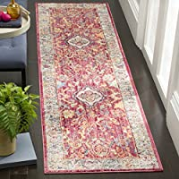 Safavieh Bristol Collection BTL361R Rose and Light Grey Vintage Oriental Distressed Runner (23 x 8)