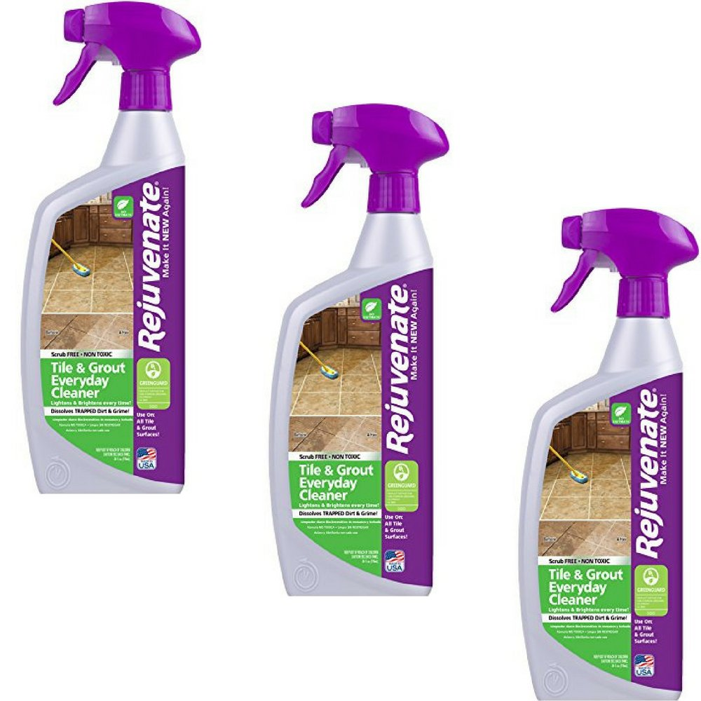Rejuvenate Non-Toxic Bio-Enzymatic Safe and Scrub Free Tile and Grout Cleaner Lightens and Brightens Every Time – 24 oz. (3 Pack)