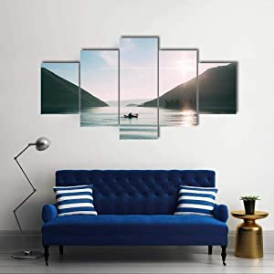 TOPJPG Canvas Wall Art Painting Pictures Kayaks in The Lake Decoration Wall Decor Bathroom Living Room Bedroom Kitchen Framed Ready to Hang
