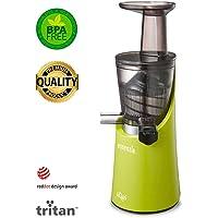 Extractor de zumo en frío Siquri Essenzia Pro Green 32 rpm | Extractos naturales de frutas y verduras, sorbetes y helados | El más ecológico en el mercado de Tritan 100%