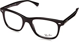 790143f0e8f Amazon.com  Ray-Ban Unisex RX5121-2000 Black Frame Wayfarer Square ...