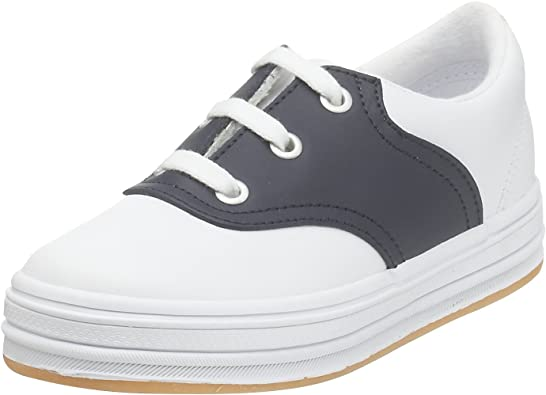 Andie Saddle Sneaker, White/Navy