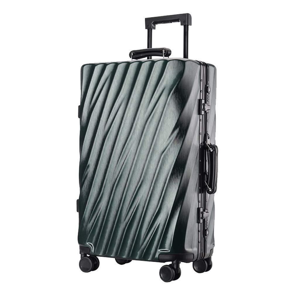 24 \ABSハードシェルトラベルトロリーケース4輪スーツケース軽量TSA税関ロックビジネストラベルトロリーケースブラック-darkgreen B07T48PNND darkgreen