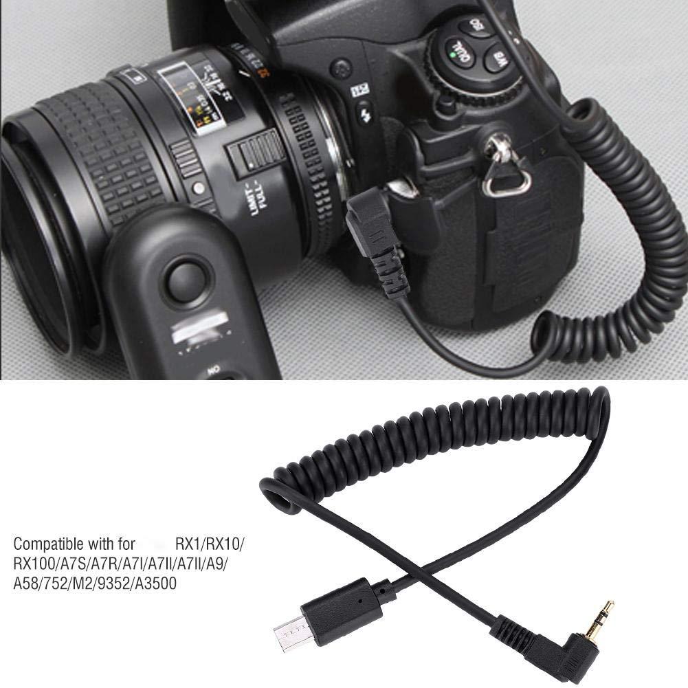 RM-VPR1 3.5mm//2.5mm S2 C/âble de raccordement de d/éclencheur /à t/él/écommande pour Sony RX1//RX10//RX100//A7S//A7R//A7//A7III//A7//A58//77M2//99M2//A3500//A5000//A5100//A6000 2.5mm-S2 Tangxi C/âble de d/éclencheur