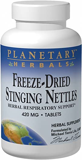 Planetary Formulas Freeze-Dried Stinging Nettles, 420 mg, Tablets, 120 tablets Pack of 2