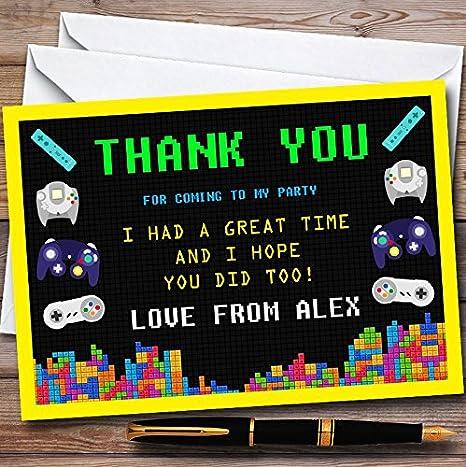 Amazon.com: 10 x juegos de video amarillo personalizable ...