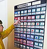 NEATLINGS Chore Chart System   Reward & Responsibility   Customize for up to 6 Children   76 Unique Chores!   Household Chore Cards / Self-Care Chore Cards