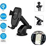 Auto-Clamp Qi Car Mount,10W 7.5W Power Fast Charging /& 5W Charger Black Jeefung Wireless Car Charger Mount Windshield Dashboard Air Vent Phone Holder Compatible with iPhone Xs//Xs Max//XR//X// 8//8 Plus