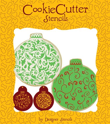 Christmas Ball Ornament Cookie Set (no cutter) by Designer Stencils Ball Christmas Cookies