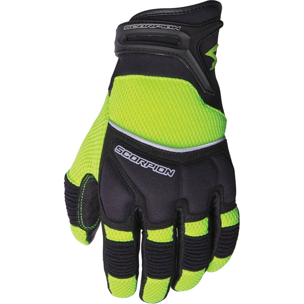 Scorpion Cool Hand II Men's Mesh Sports Bike Motorcycle Gloves - Neon/X-Large