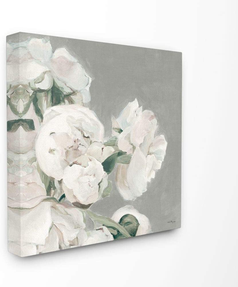 Stupell Industries Beautiful Large Flowers Neutral Grey Painting Decorative Wall Hangings, 30 x 30, multi-color